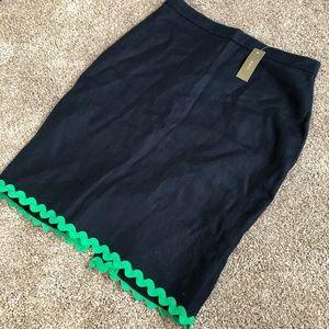 J Crew Linen Pencil Skirt
